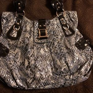 a802f0ffaab0 No Name Bags - Large Faux Snakeskin Print Style Hobo Bag